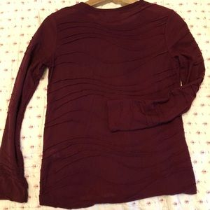 {Simply Vera} Maroon Top with Fun Pattern